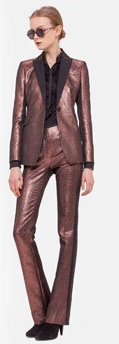 Akris-punto Metallic Tuxedo Jacket