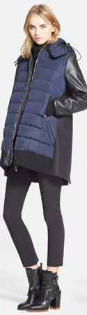 Moncler 'Blois' Mixed Media Coat