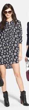 Sandra Shirttail Hem Tunic Dress