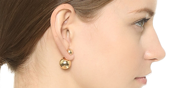 Double Ball Stud Earrings