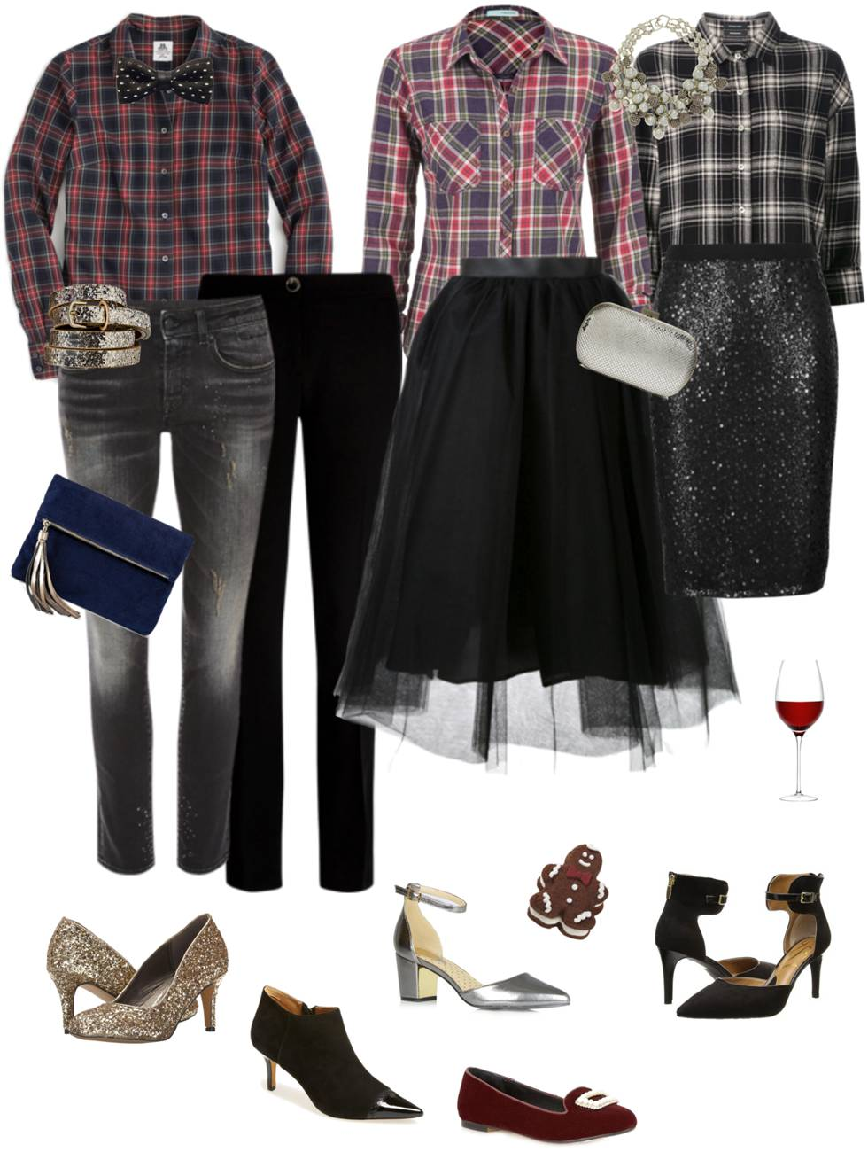 Holiday Ensemble: Party Plaid