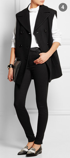 MICHAEL KORS COLLECTION Oversized Double-breasted Wool Vest