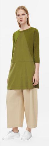 Triangle Panel Knit Dress