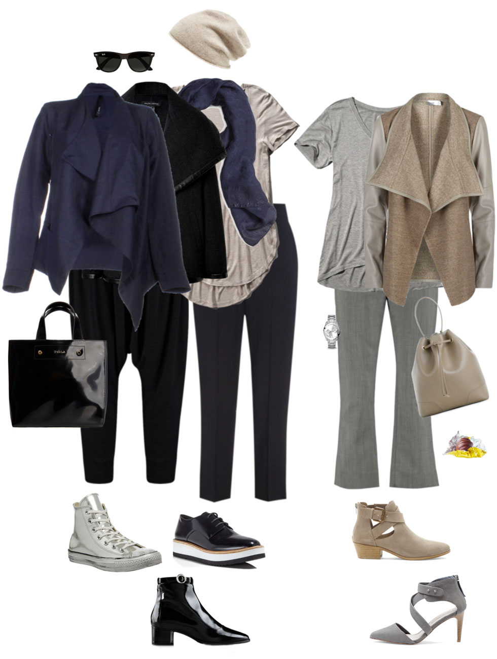 Ensemble: Dark Neutral Spring Drape