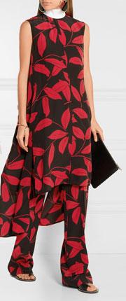 MARNI Asymmetric Printed Silk Dress