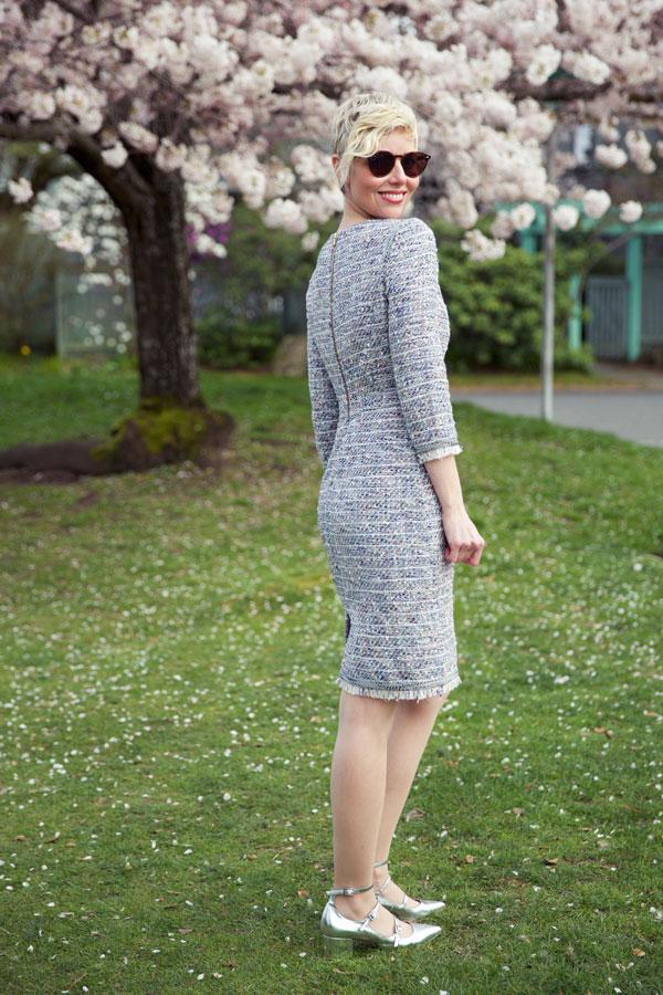 Spring Tweed Dress - Back