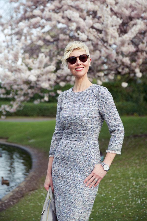 Spring Tweed Dress - Close