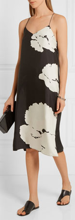 TIBI Amara Printed Silk-twill Dress