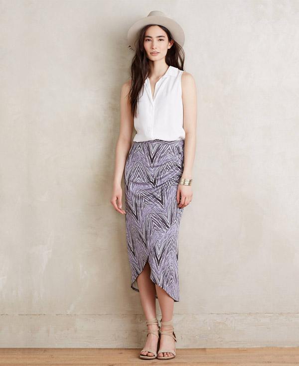 Anthropologie Monetta Midi Skirt