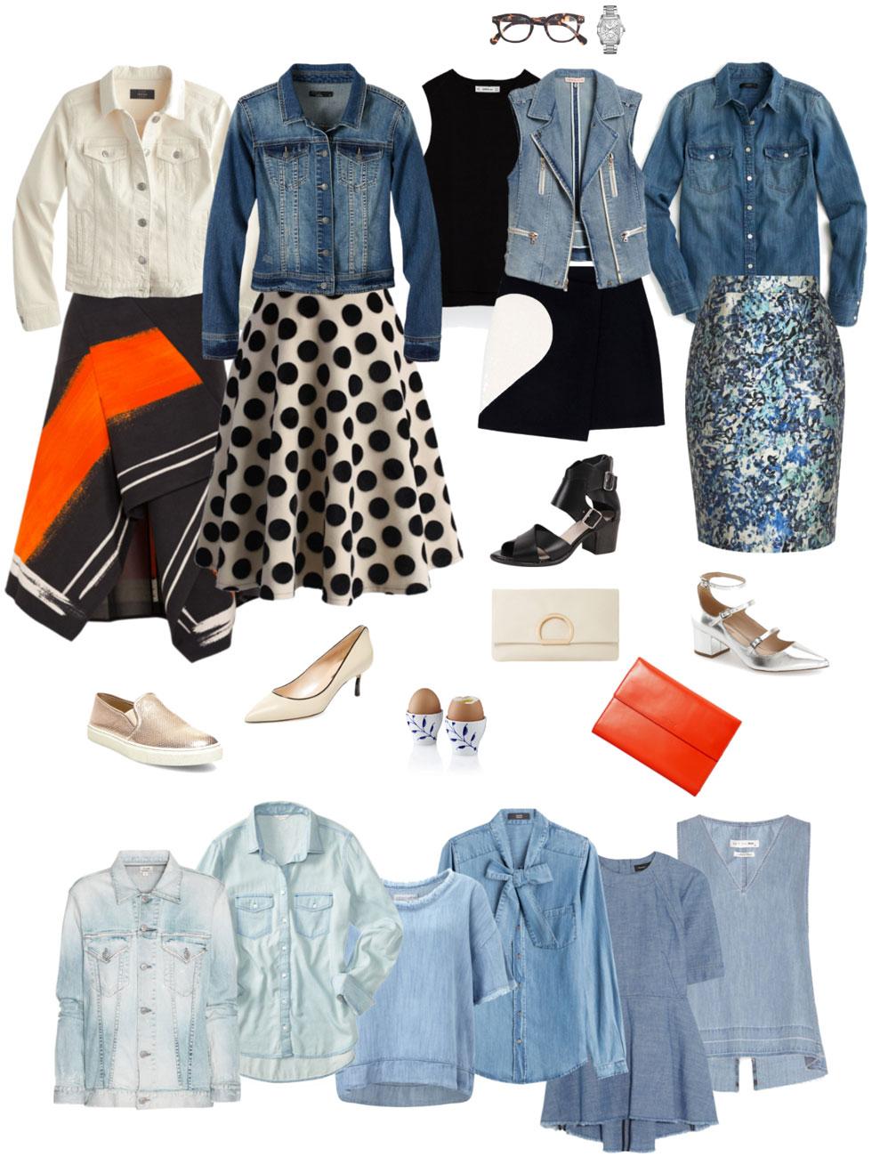 Ensemble: Dressy Skirts & Denim