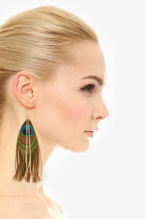 serefina Peacock Earrings