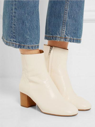 ISABEL MARANT Etoile Deyis Leather Ankle Boots