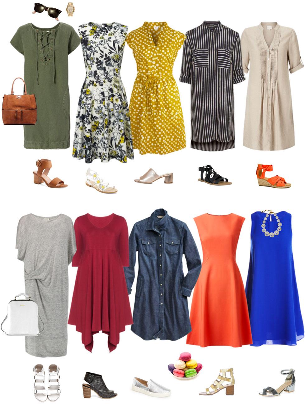 Summer Dress and Sandals