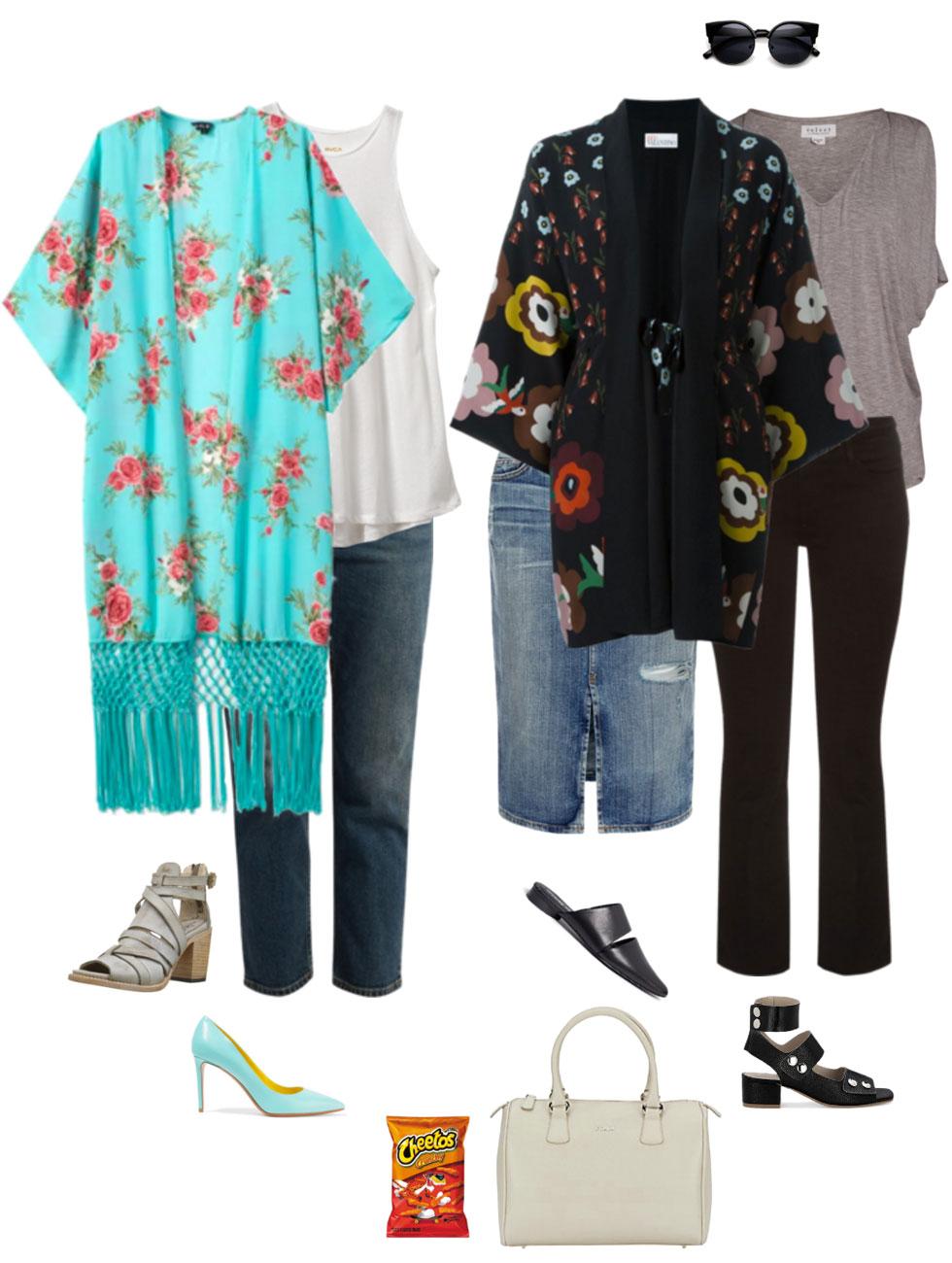 Ensemble: Statement Kimono & Jeans