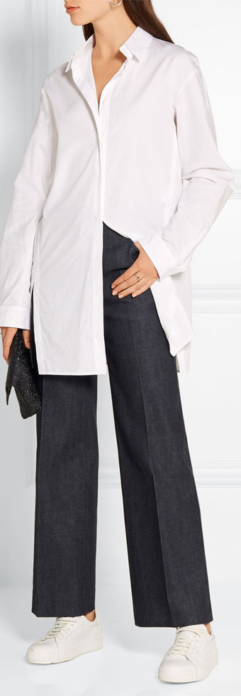 CALVIN KLEIN COLLECTION Cropped High-rise Flared