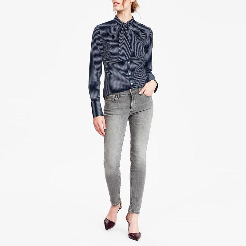 A Shirt & Grey Jeans