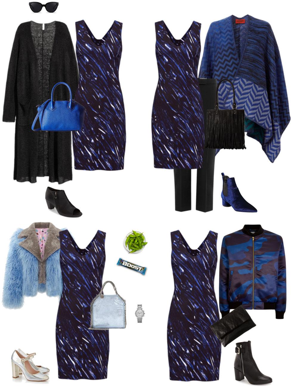 Ensemble: Transition a Sheath Dress into Fall