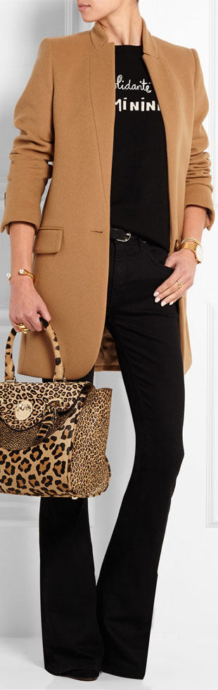 HILL FRIENDS Happy Satchel Leopard-print Calf Hair Tote