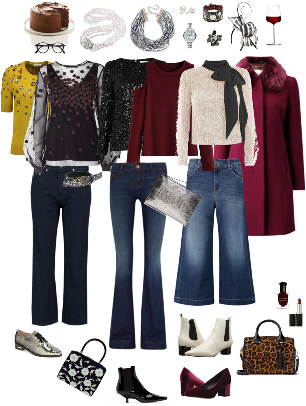 Holiday Ensemble: Bling Up Denim
