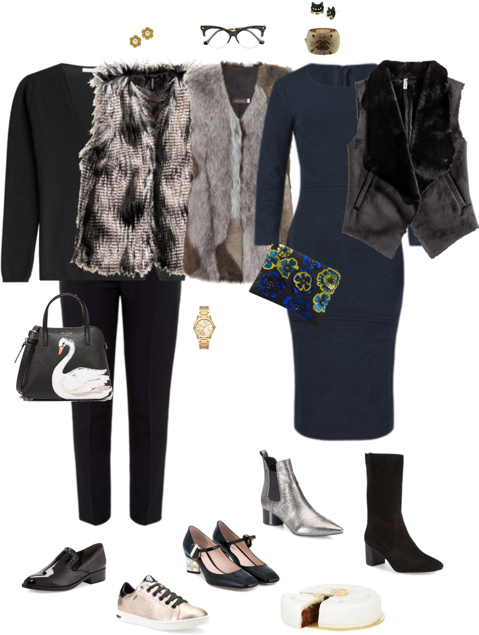 Holiday Ensemble: Easy Faux Fur Vest