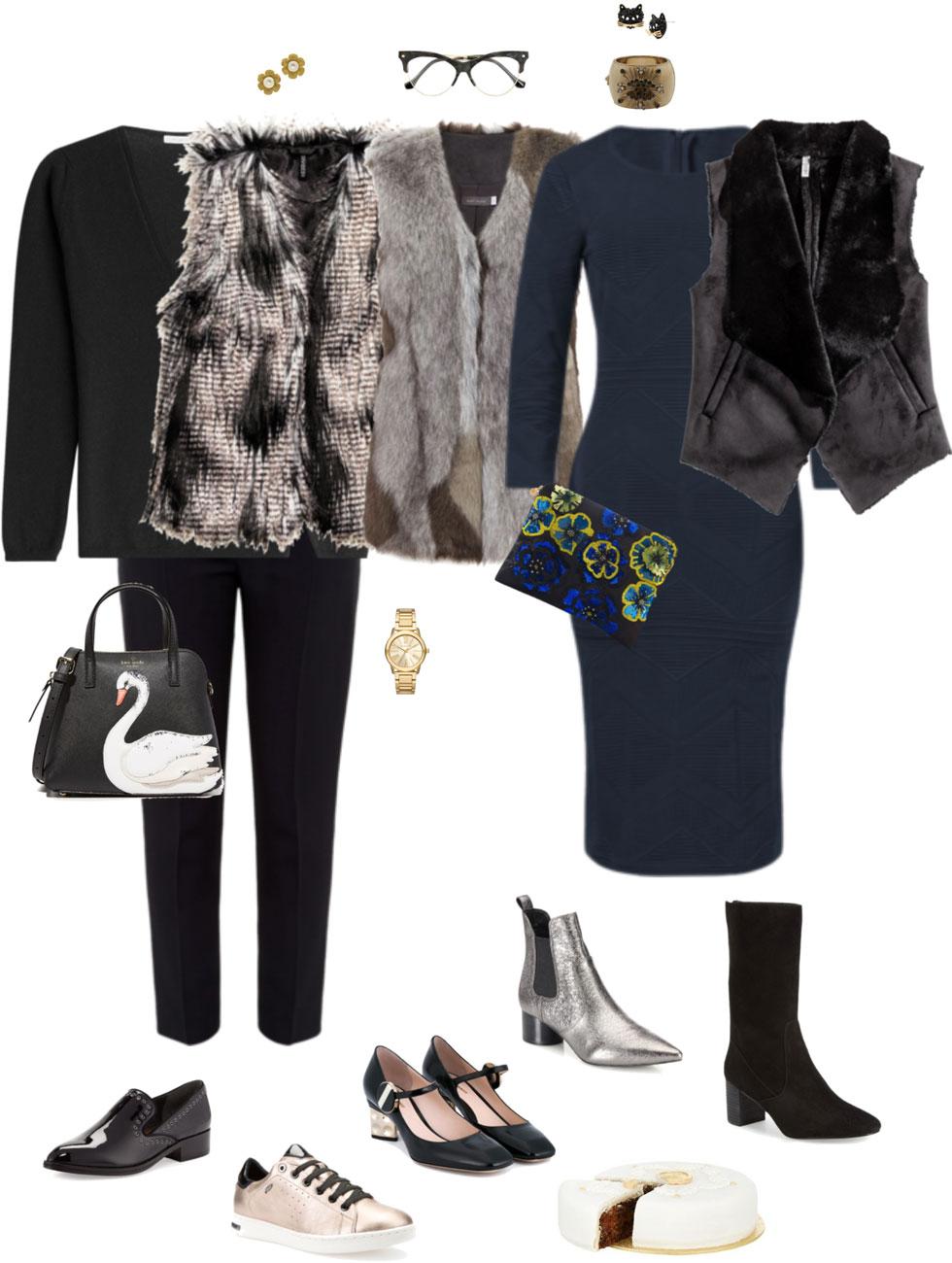 Ensemble Style Advice - Holiday Ensemble: Easy Faux Fur Vest