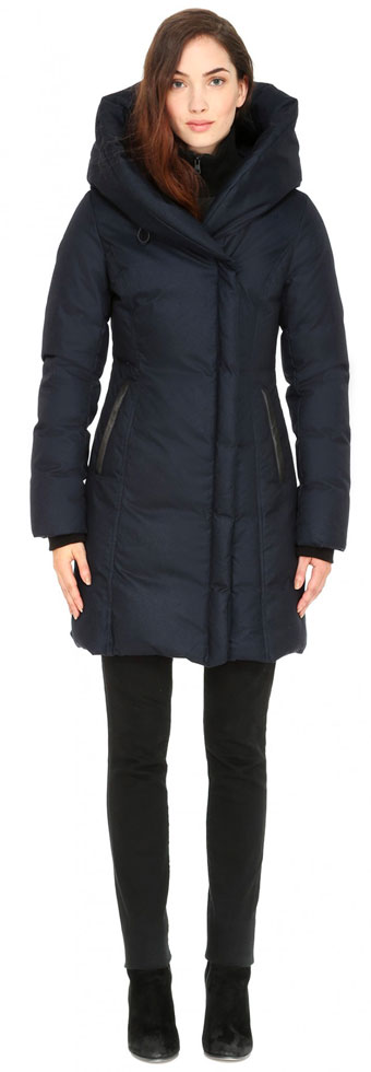 Soia & Kyo Hooded Down Coat with Oversized Collar