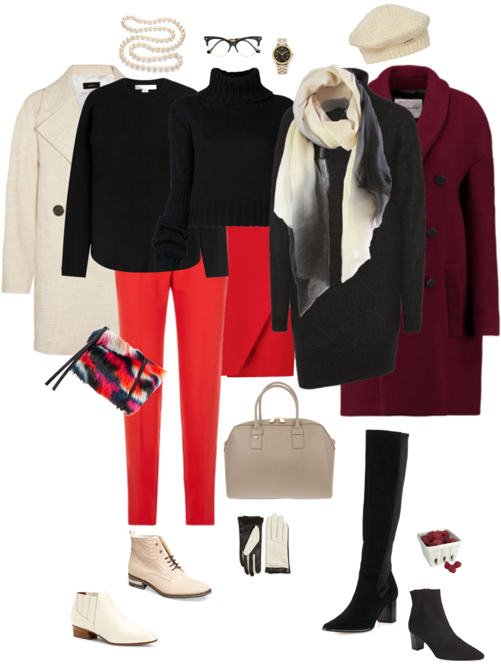 Black, Red and Cream Accents