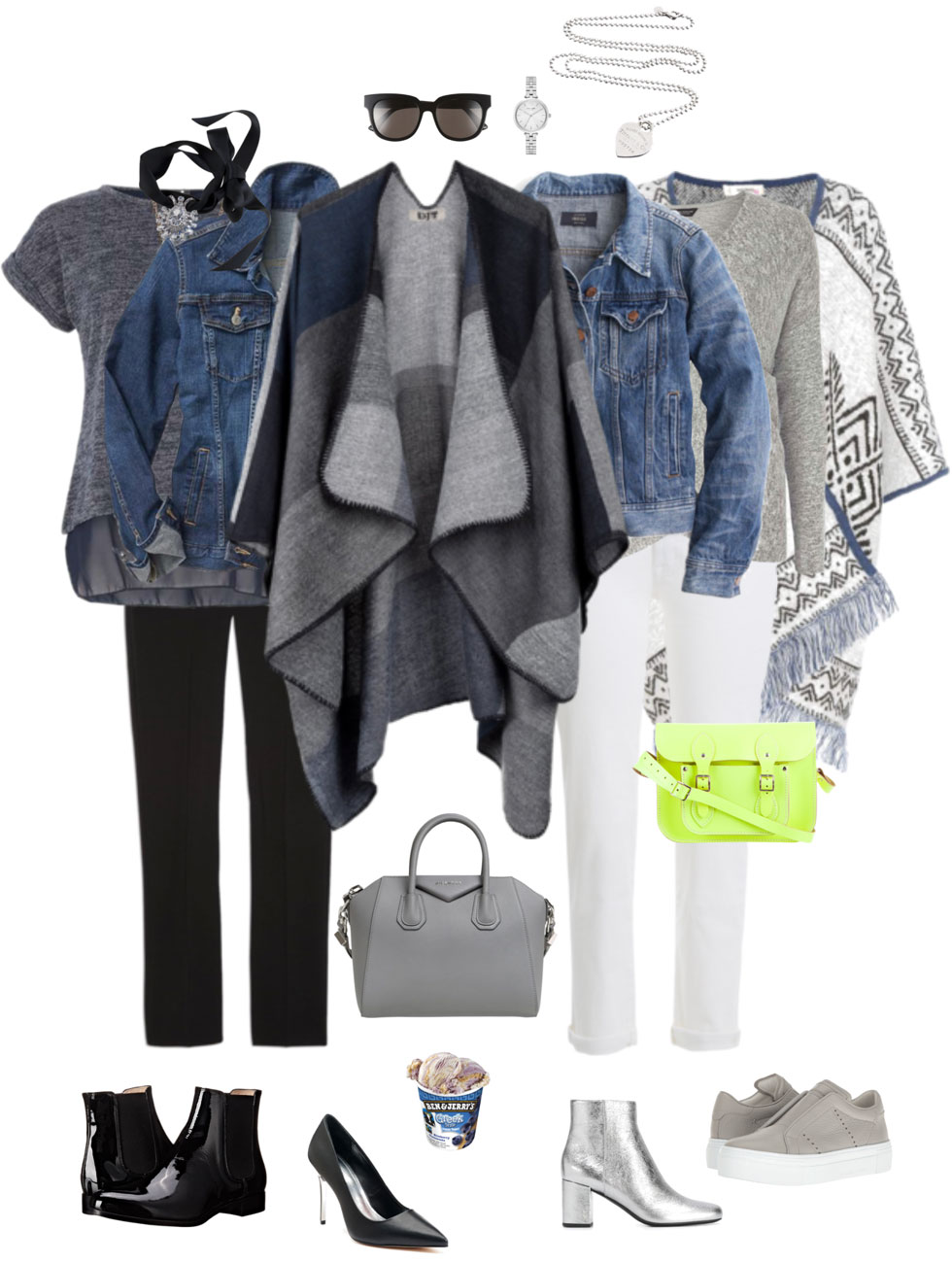 Ensemble: Wrapped Denim Jacket