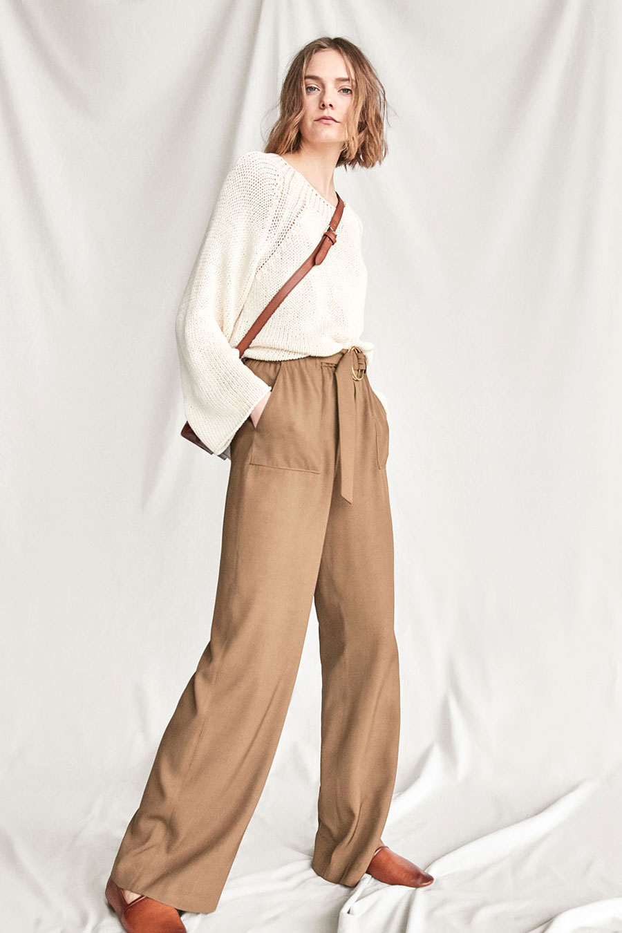 Massimo Dutti Trousers with Ring Detail