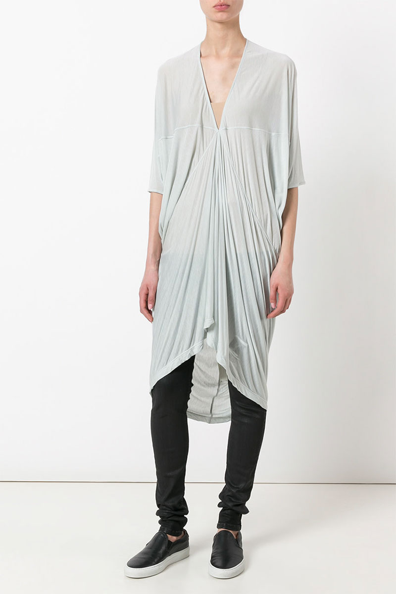RICK OWENS DRKSHDW Gathered Detail Tunic