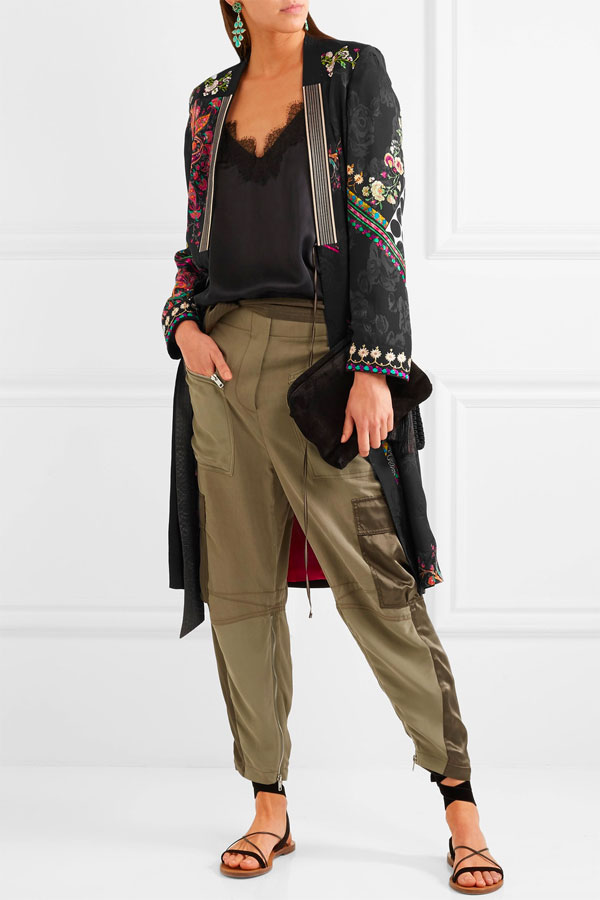 ETRO Embroidered Satin-jacquard Jacket