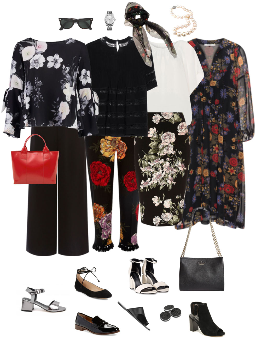 Ensemble: Dark Summer Floral