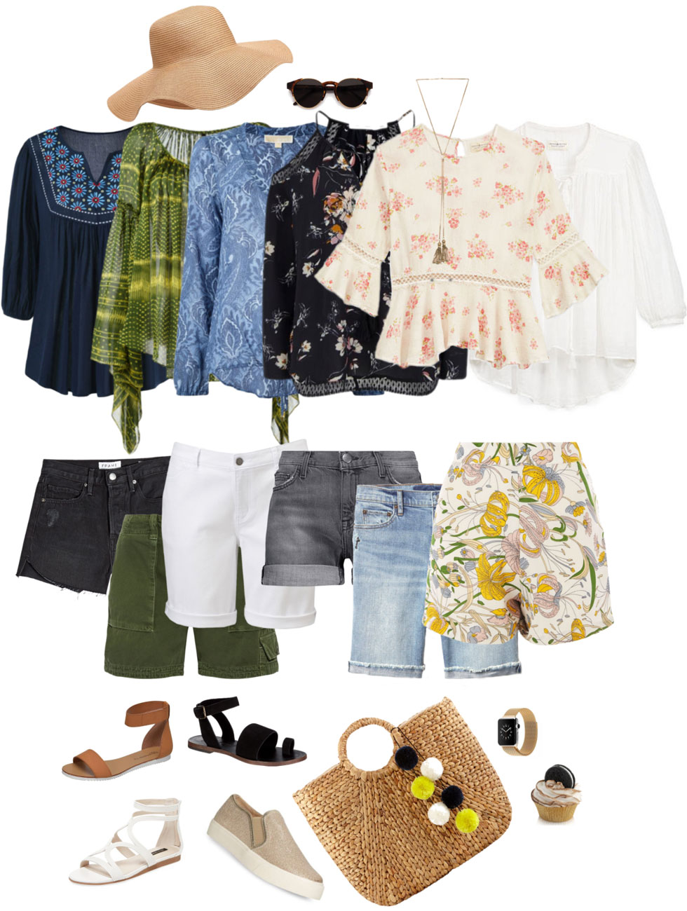 Ensemble: Shorts & Boho Blouse