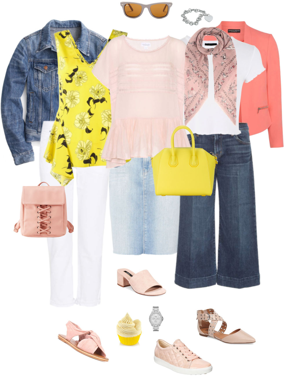 Ensemble: Blush, Citron & Denim