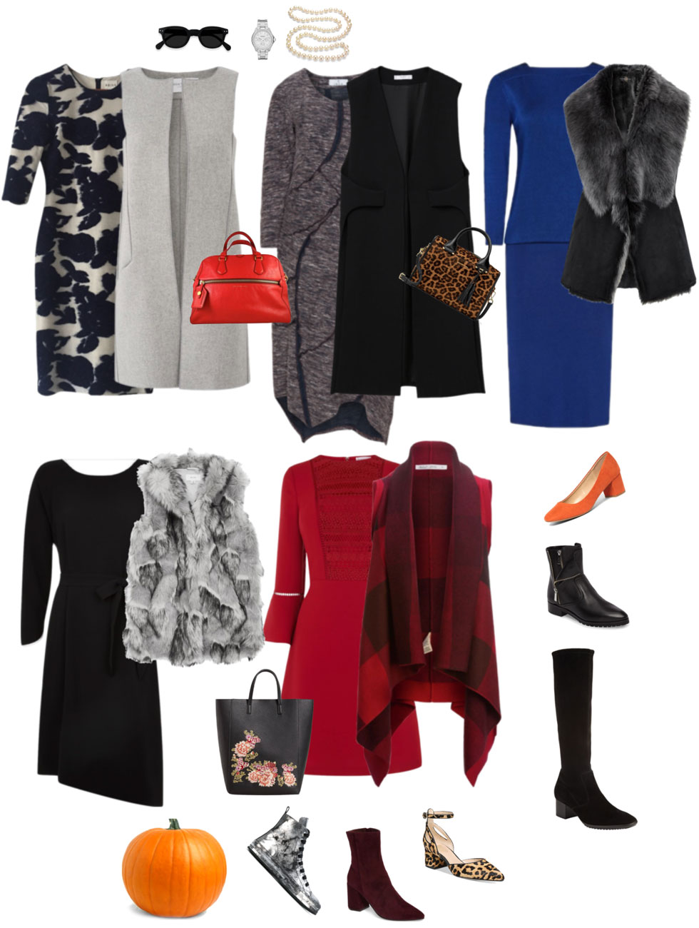Ensemble: Fall Dress & Gilet