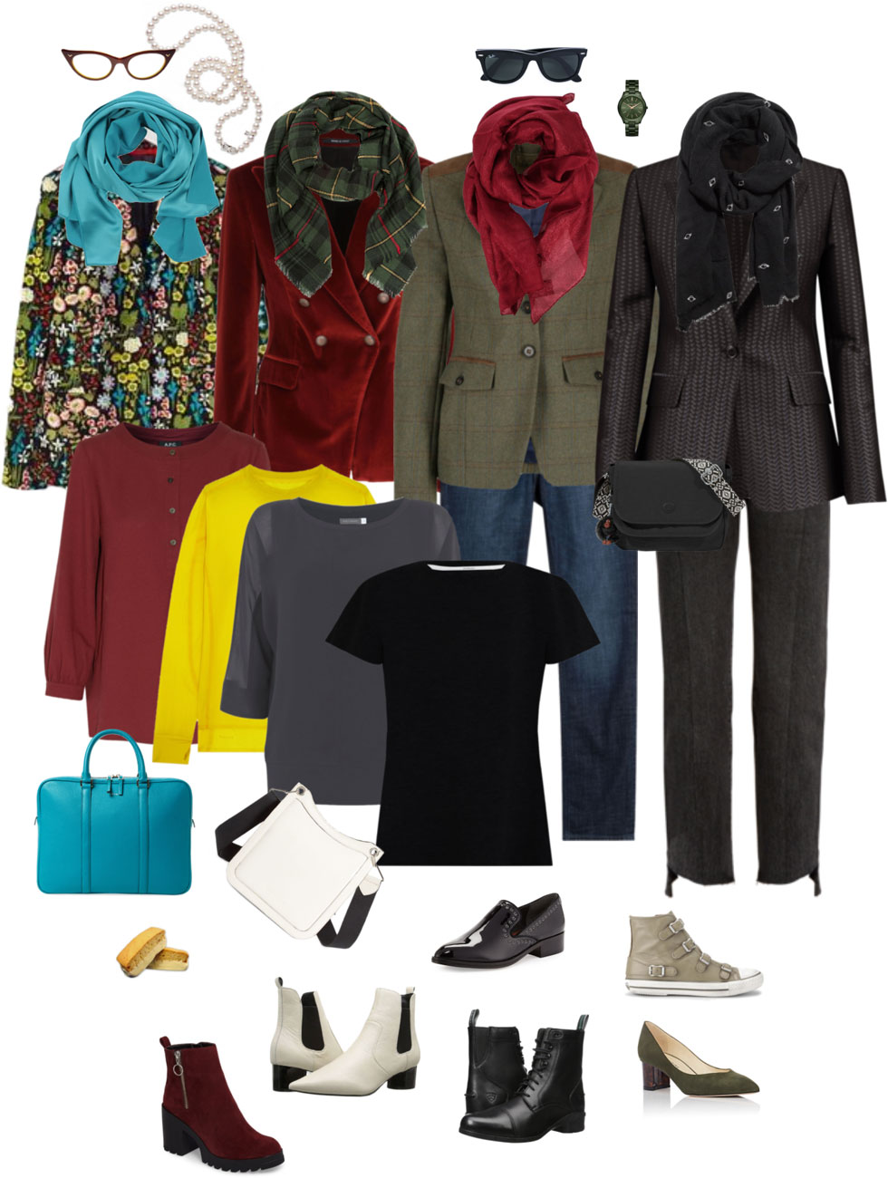 Ensemble: Fall Blazer, Jeans & Scarf