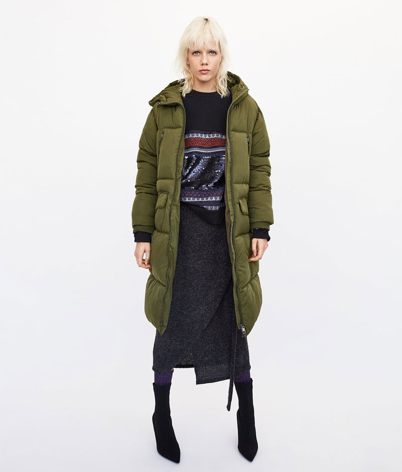 Zara Long Oversized Puffer Coat