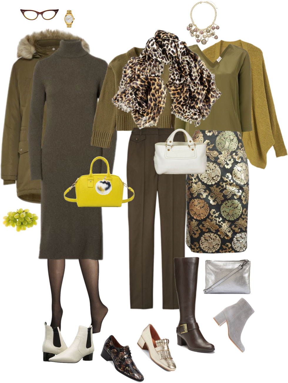 Ensemble Style Advice - Olive All Over