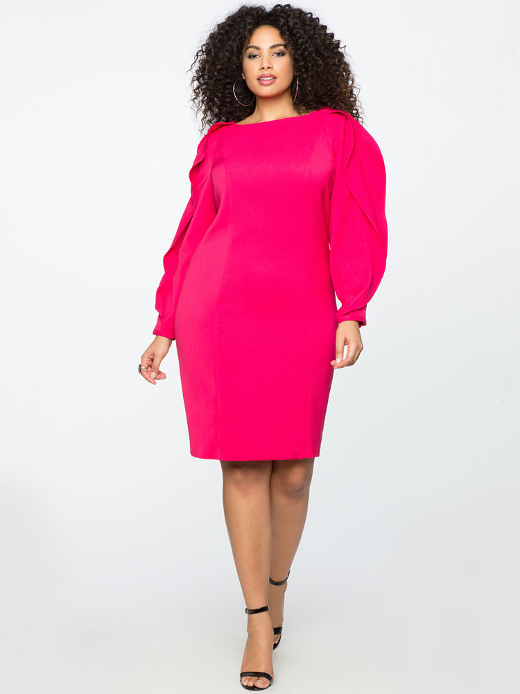 Eloquii Slit Sleeve Work Dress