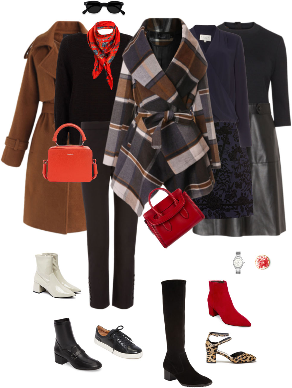 Ensemble Style Advice - Black, Cinnamon and Red