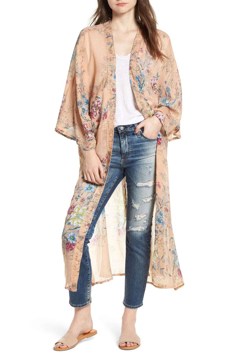 Steve Madden Floral Kimono Duster