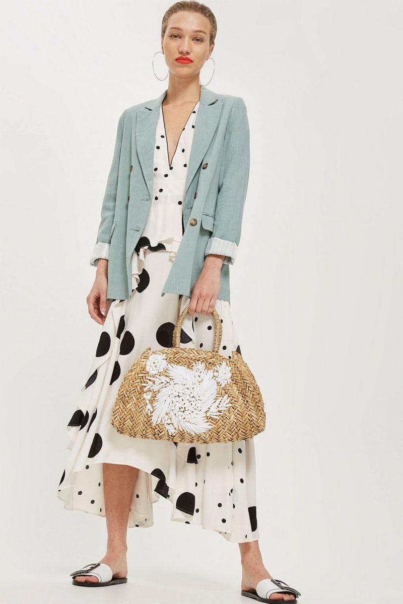 Topshop Floral Tote Bag