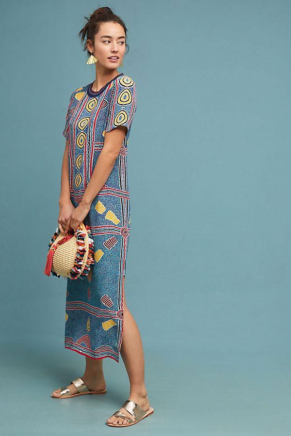 Anthropologie Geometric Maxi Dress