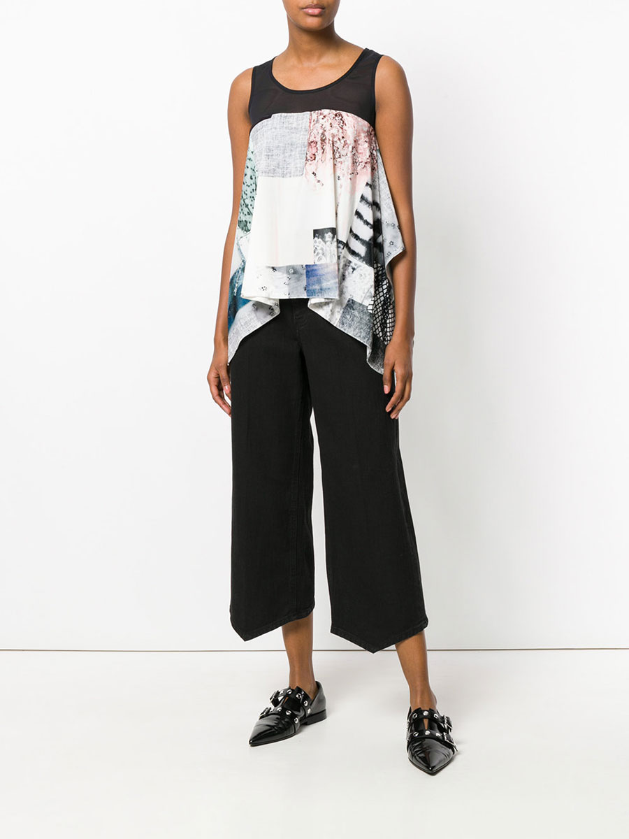 MM6 MAISON MARGIELA Wide Cropped Jeans