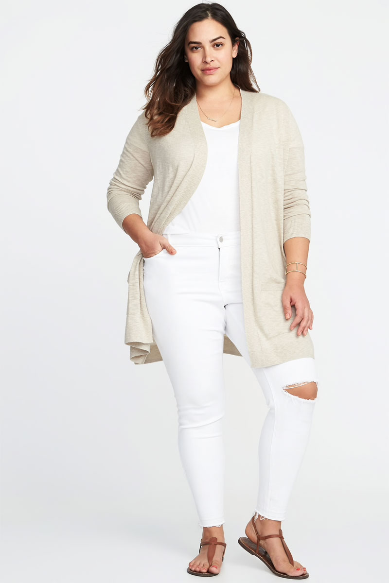 Old Navy Open Front Plus Size Long Line Sweater
