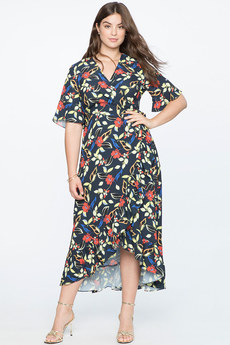 Eloquii High-Low Wrap Dress