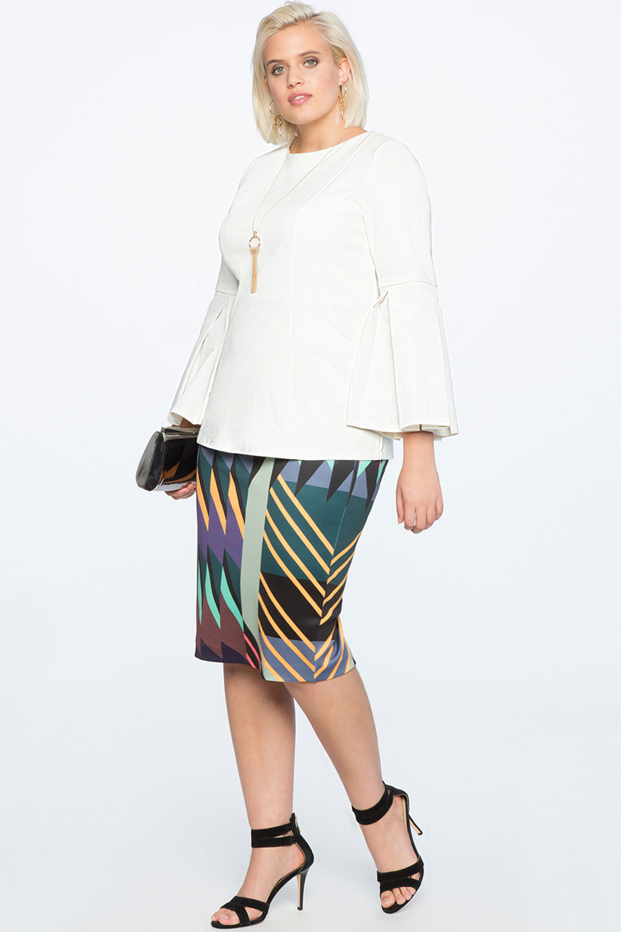 Eloquii Neoprene Pencil Skirt