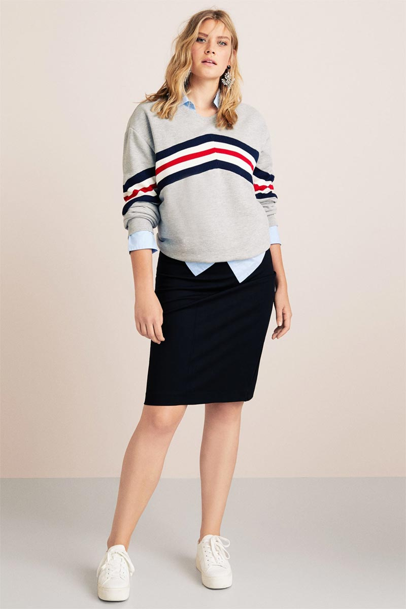 Violeta Zips Pencil Skirt
