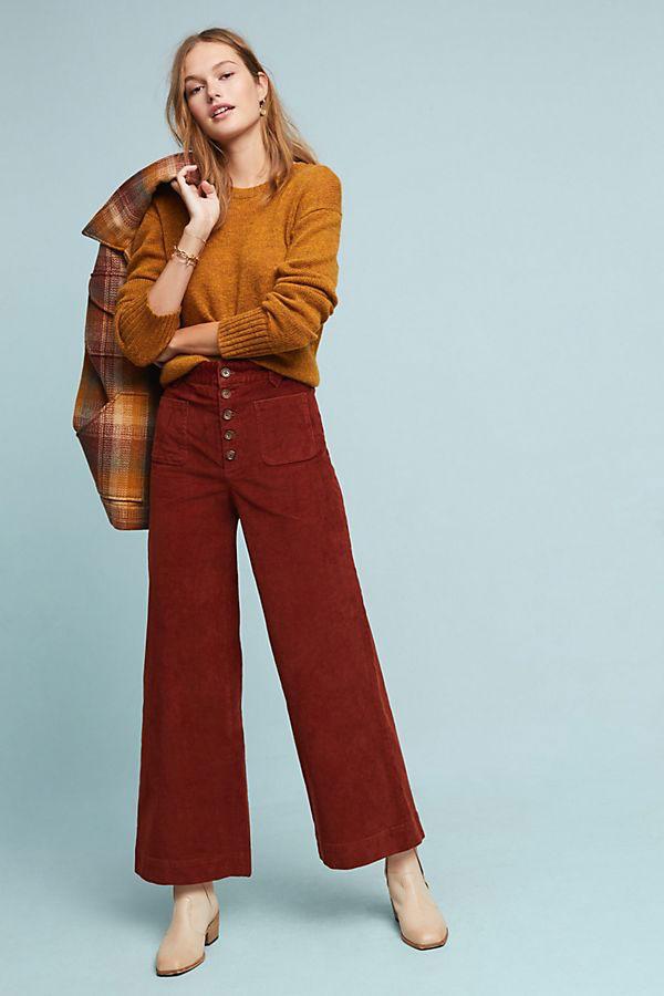 Frye Ilana Ultra High Rise Corduroy Wide Leg Jeans