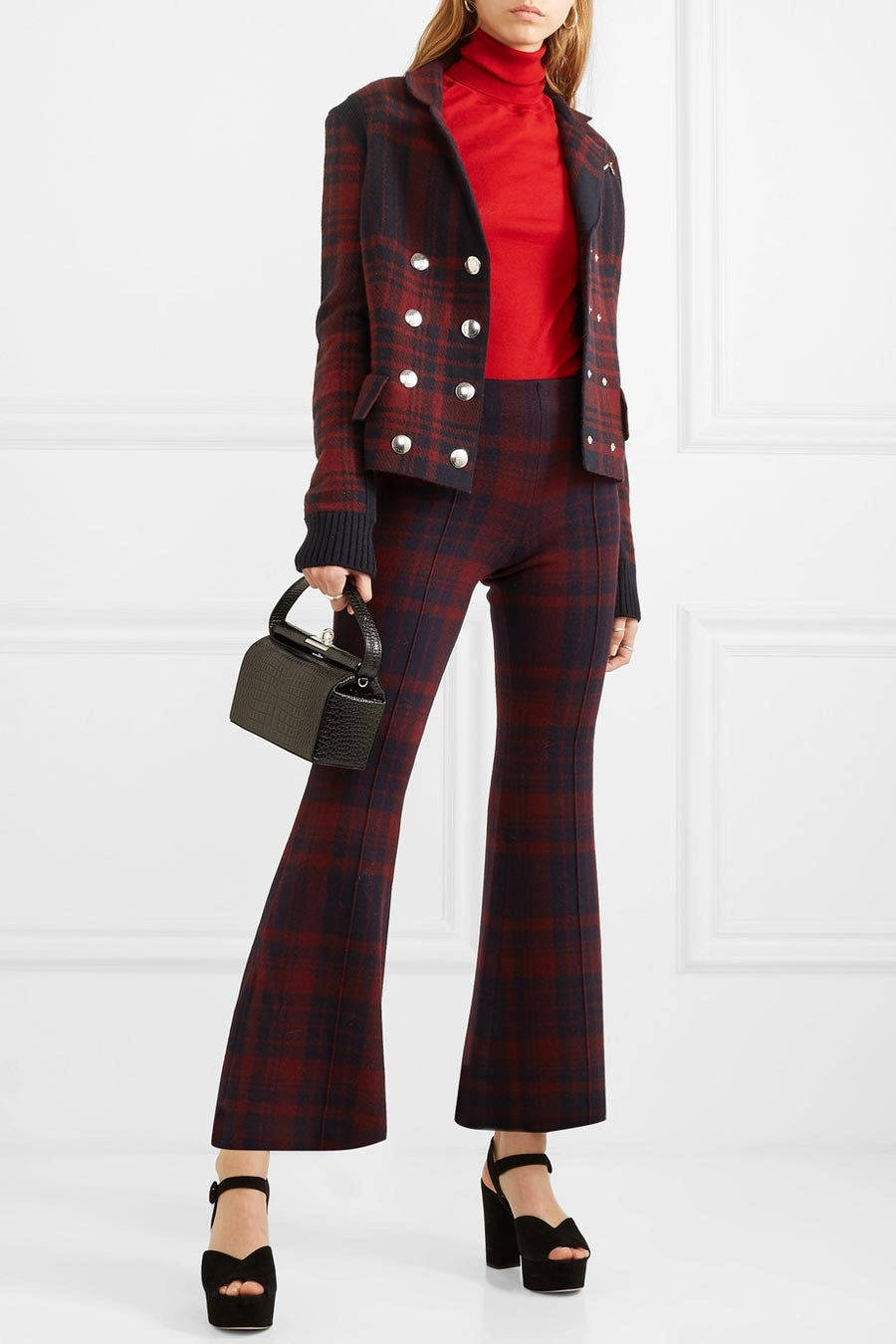 SONIA RYKIEL Checked Wool-felt Blazer